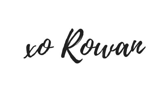 xo Rowan handtekening